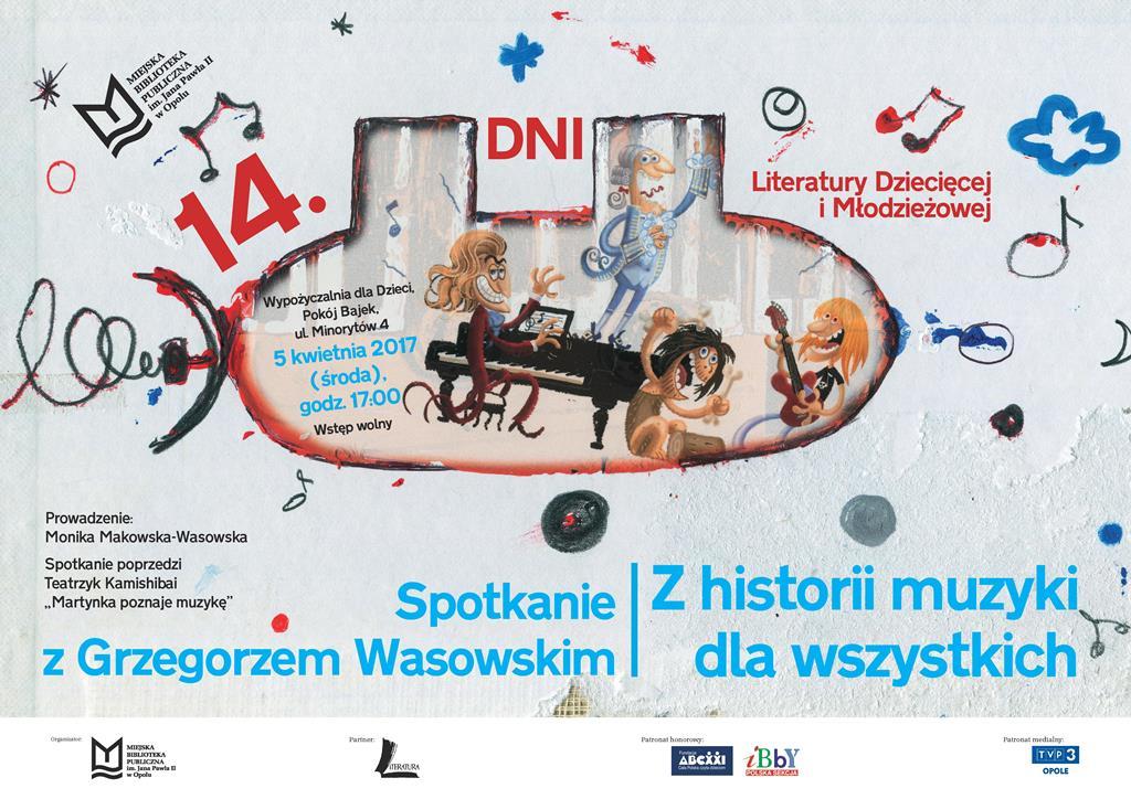 Z historii muzyki dla wszystkich – spotkanie z Grzegorzem Wasowskim w ramach Dni Literatury Dziecięcej i Młodzieżowej