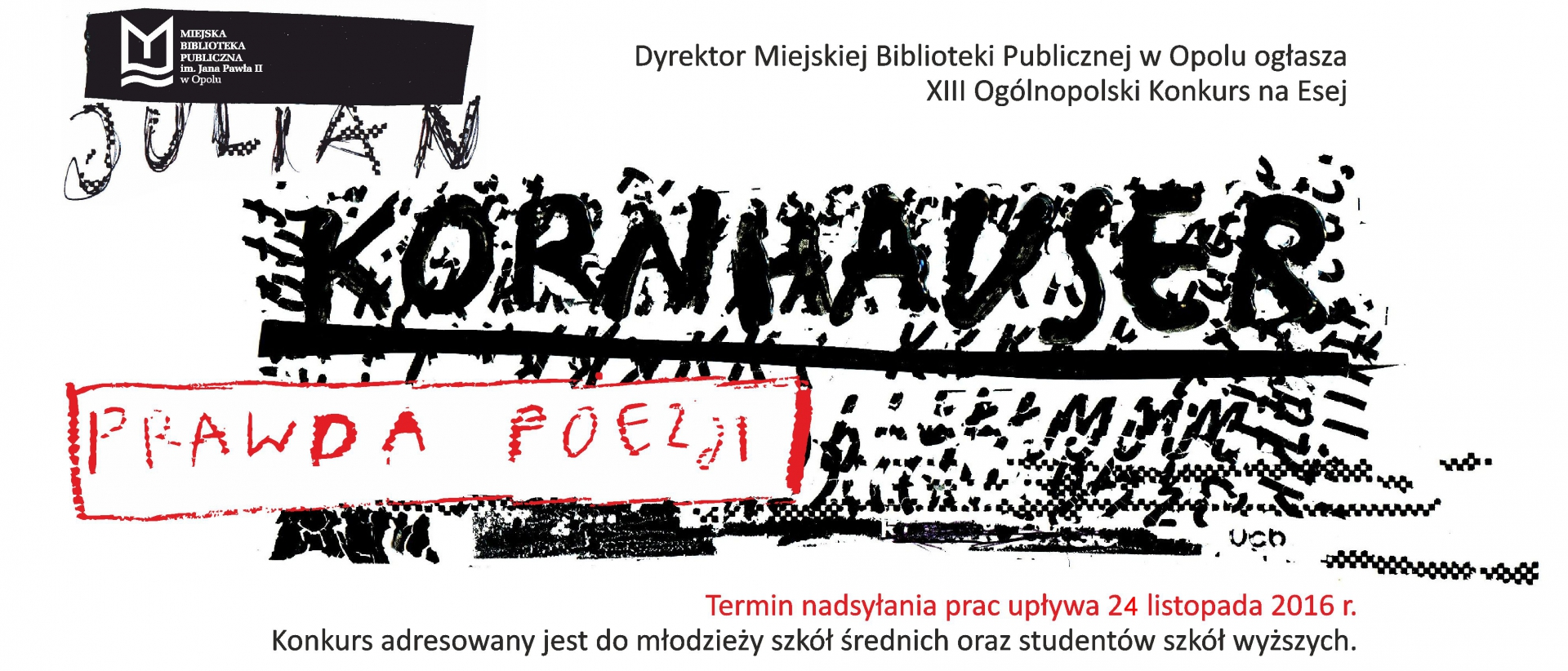 Wyniki XIII Ogólnopolskiego Konkursu na Esej