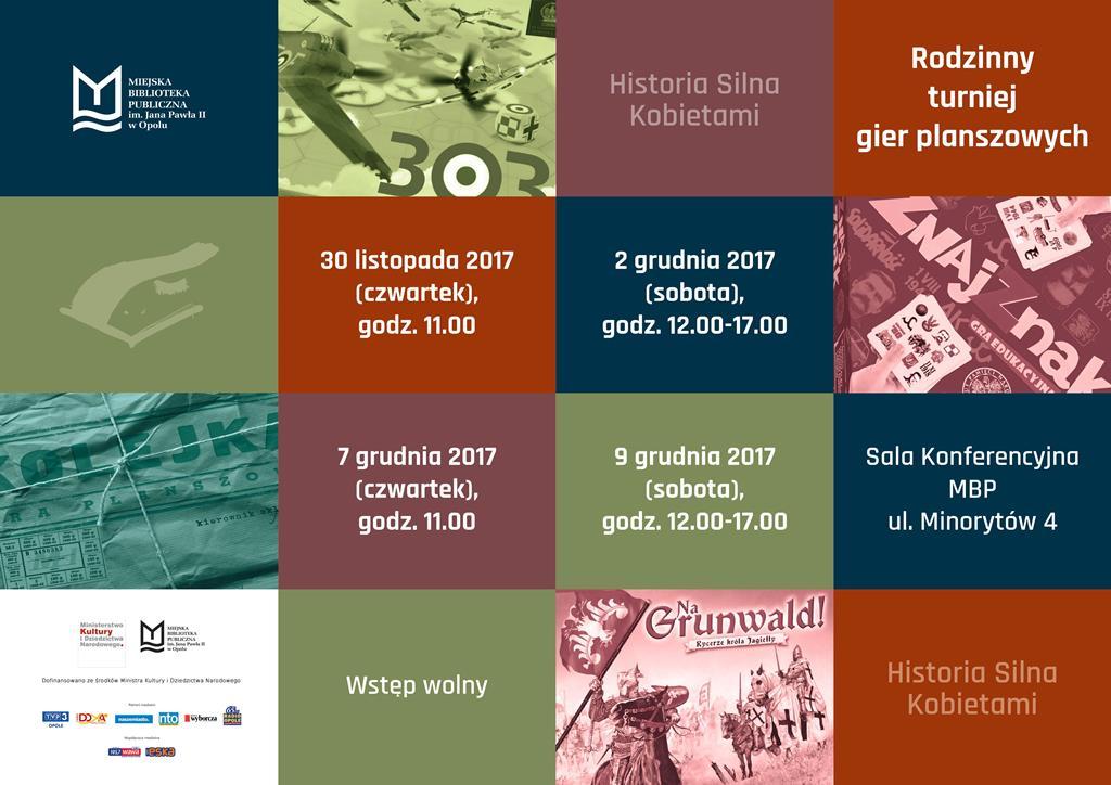 HISTORIA SILNA KOBIETAMI - Rodzinny turniej gier planszowych