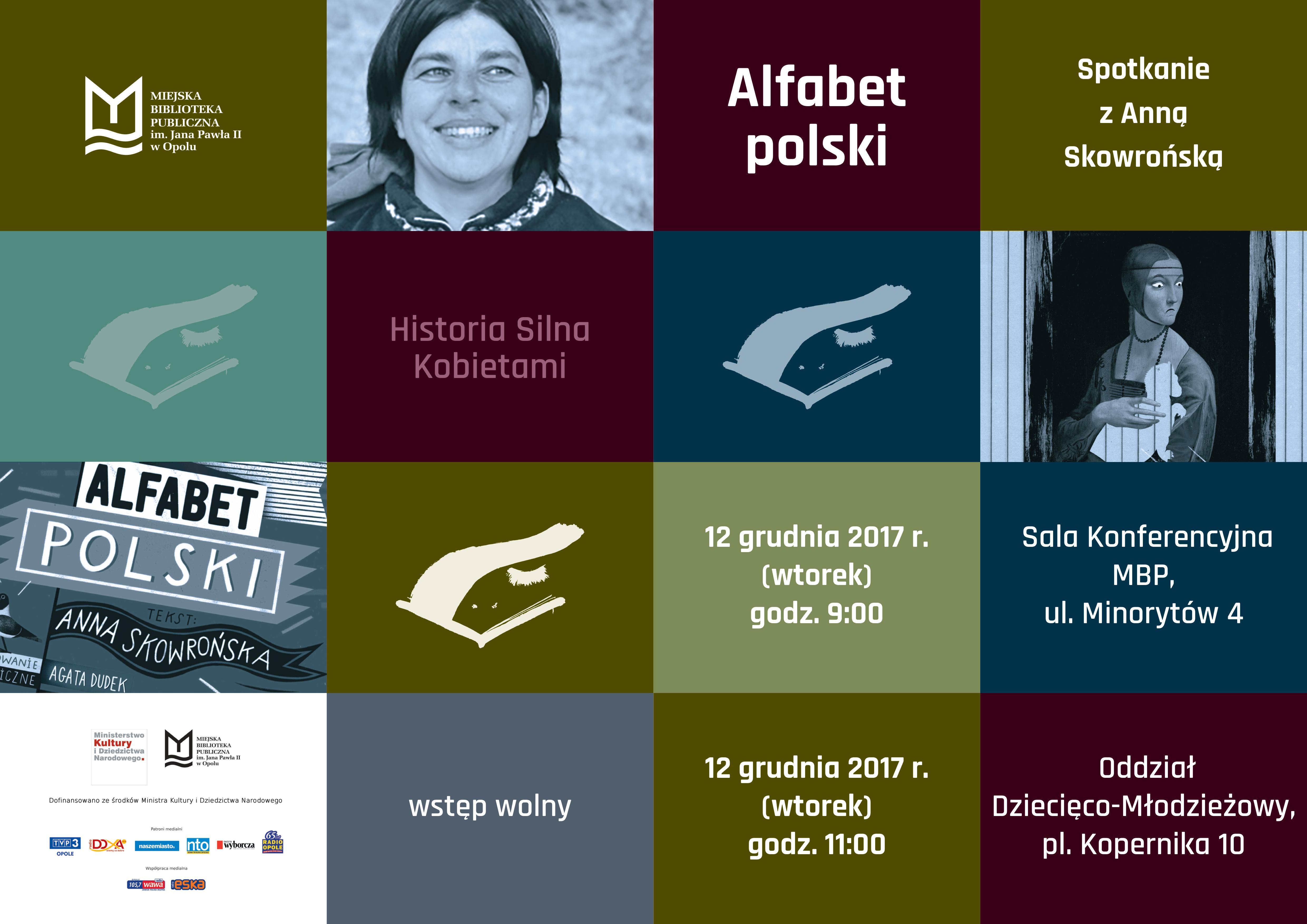 "Historia silna kobietami: ""Alfabet polski"" – spotkanie z Anną Skowrońską"