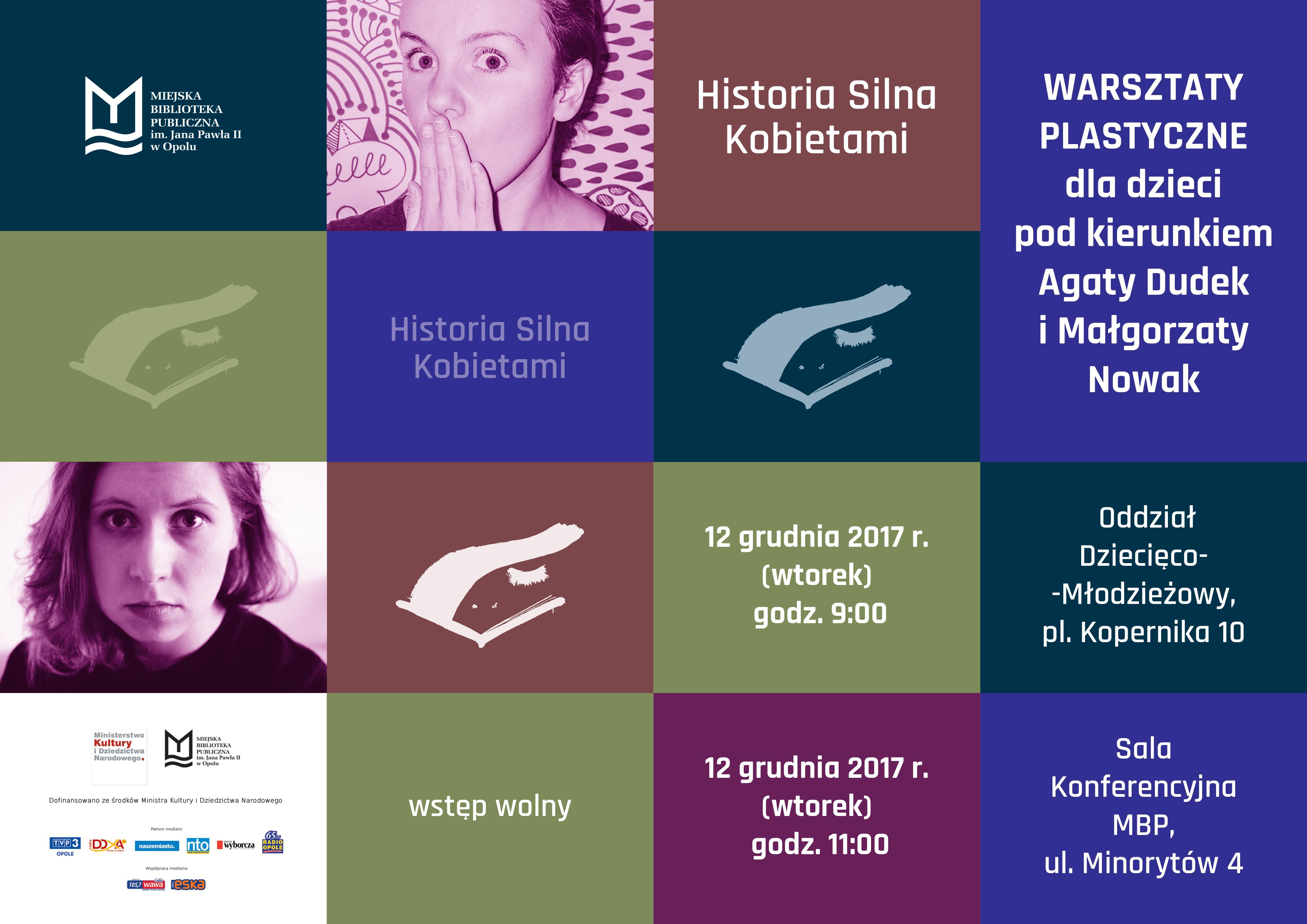 Historia silna kobietami: warsztaty plastyczne dla dzieci pod kierunkiem Agaty Dudek i Małgorzaty Nowak