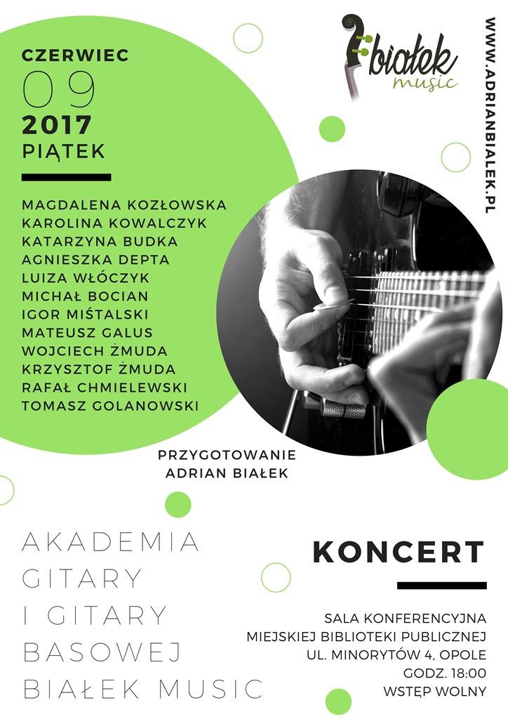 Koncert Akademii Gitary i Gitary Basowej