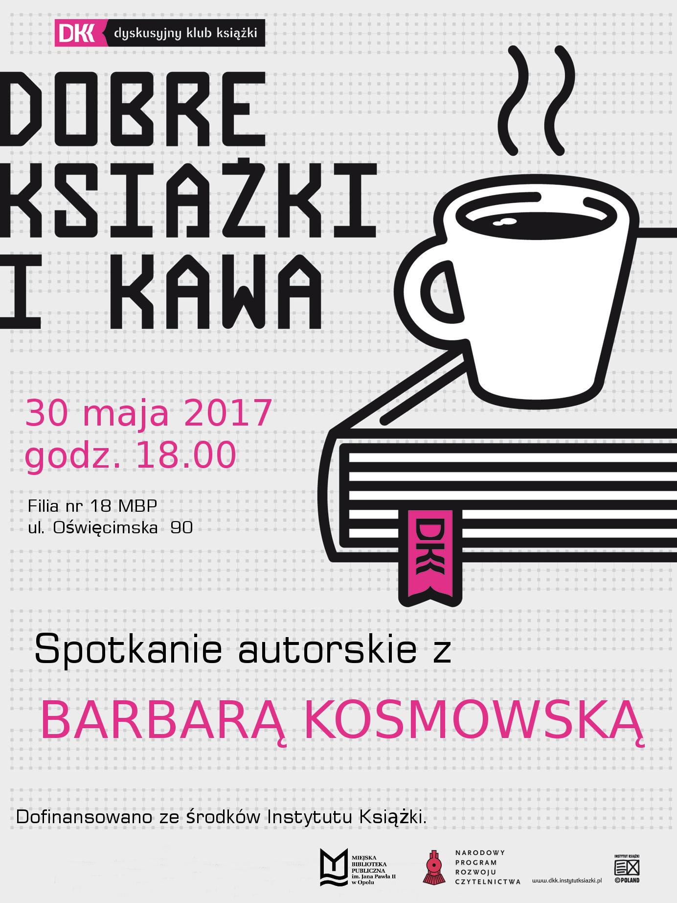 Barbara Kosmowska – spotkanie autorskie w ramach Dyskusyjnego Klubu Książki