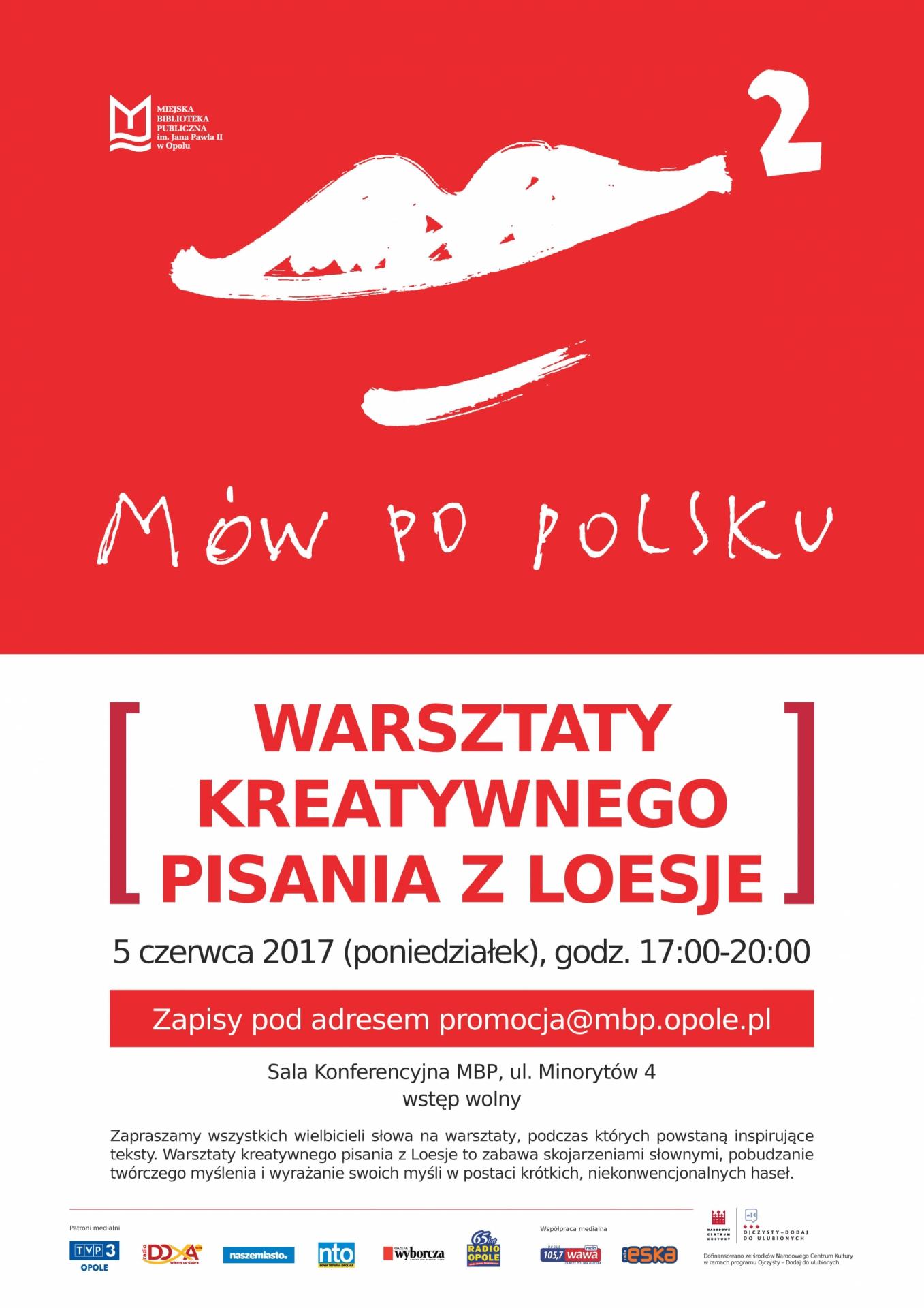 Warsztaty kreatywnego pisania z Loesje - Mów po polsku 2!