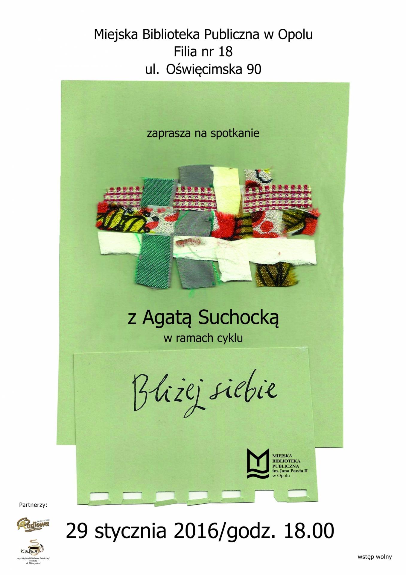 Spotkanie z Agatą Suchocką
