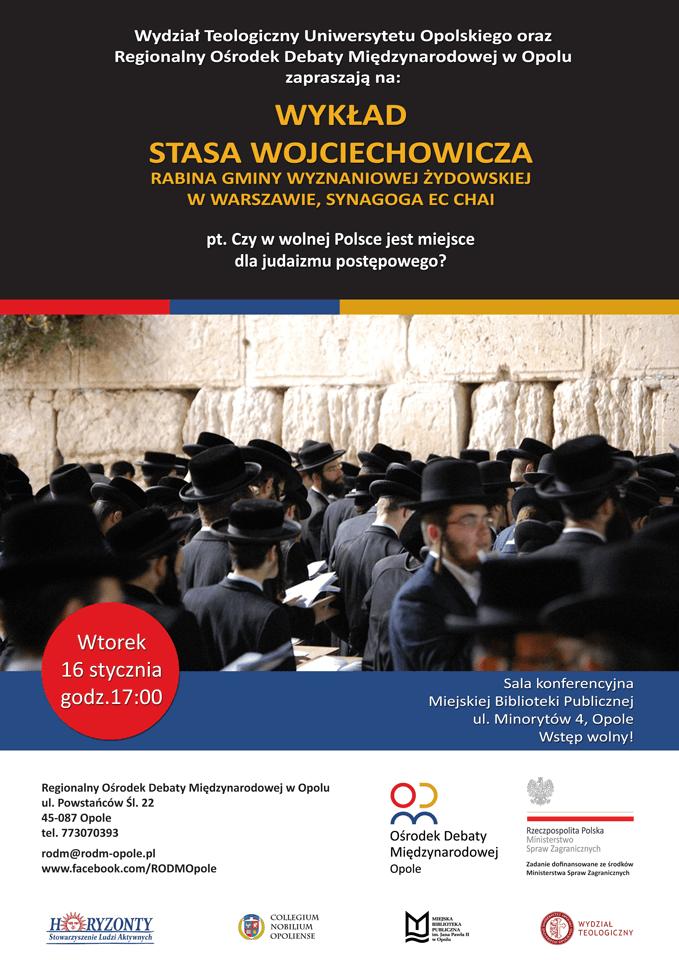 Wykład: Czy w wolnej Polsce jest miejsce dla judaizmu postępowego?