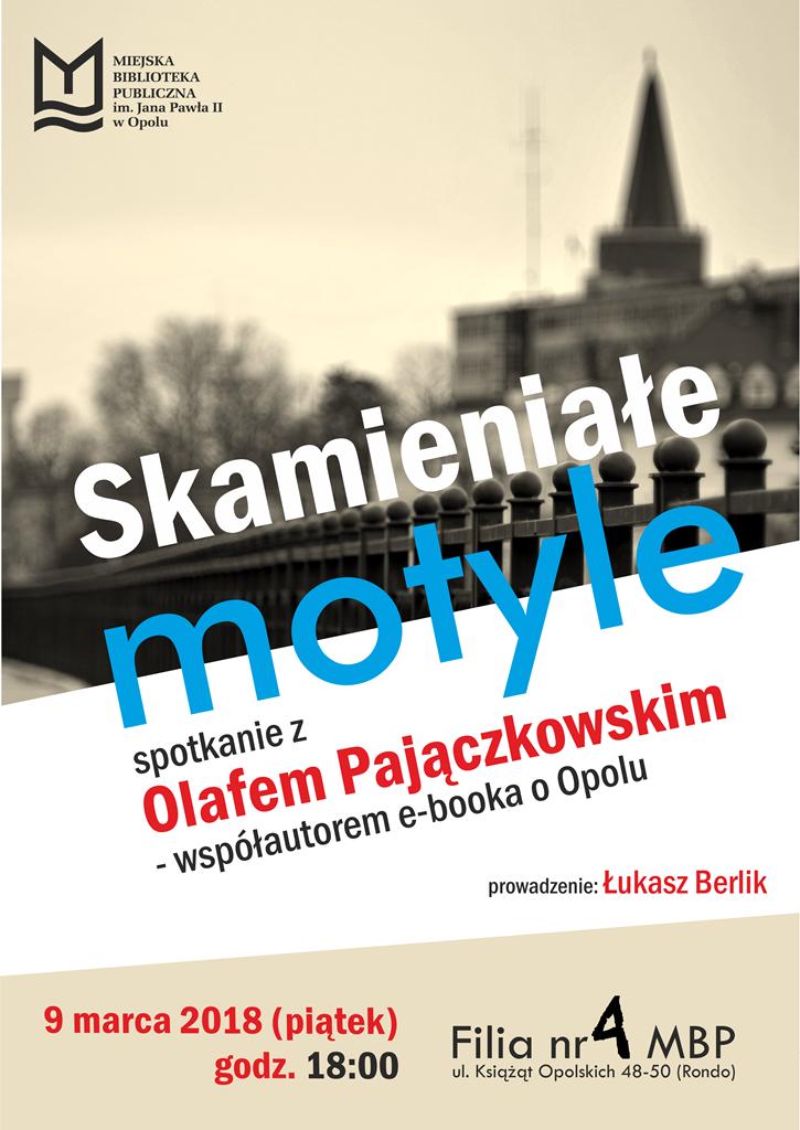 """""""Skamieniałe motyle"""" – spotkanie z Olafem Pajączkowskim"""
