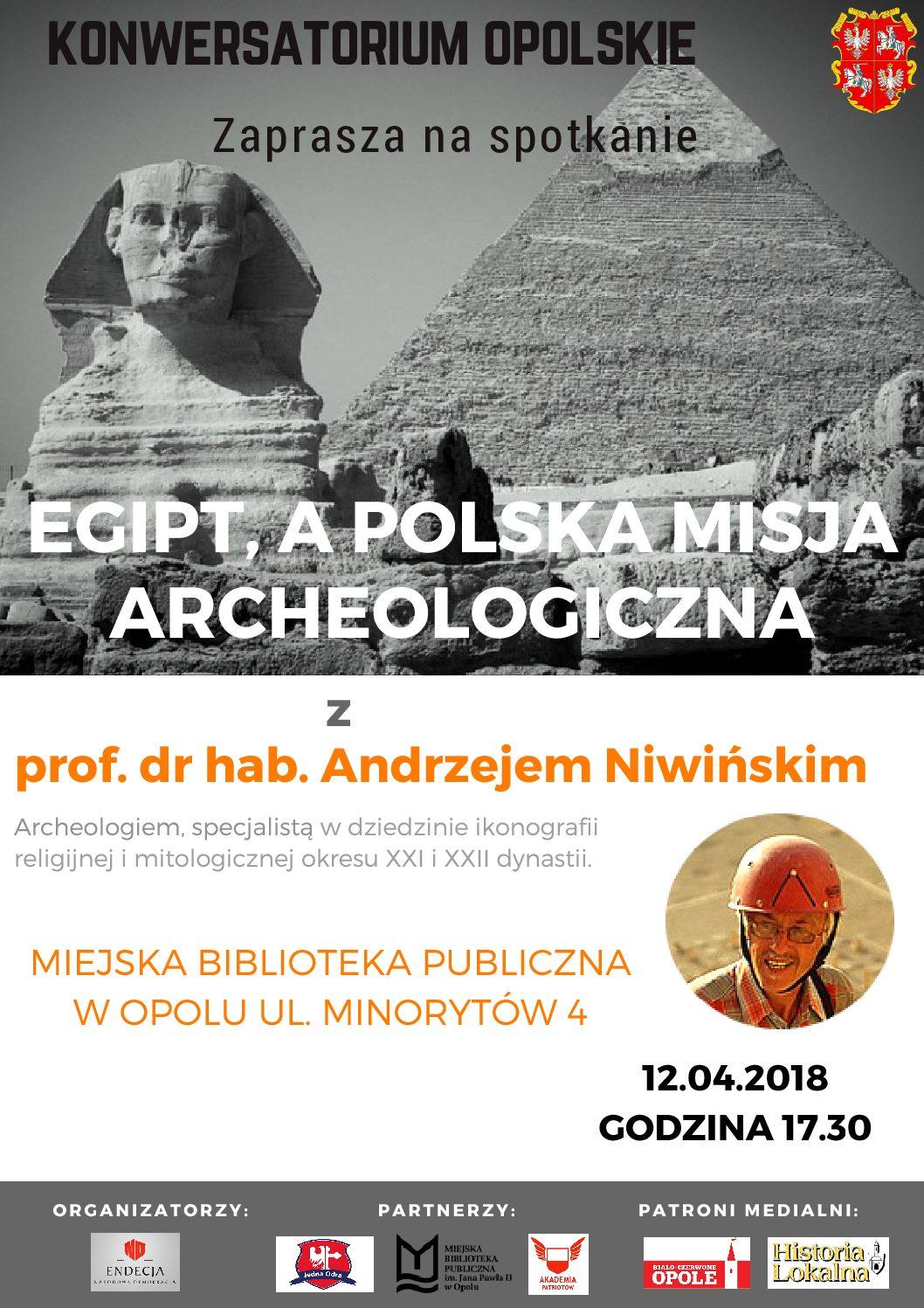 Egipt a polska misja archeologiczna – spotkanie z prof. Andrzejem Niwińskim