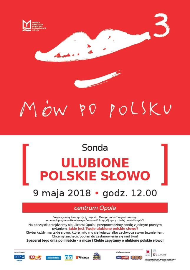 """Mów po polsku 3 - """"Ulubione polskie słowo"""" - sonda"""