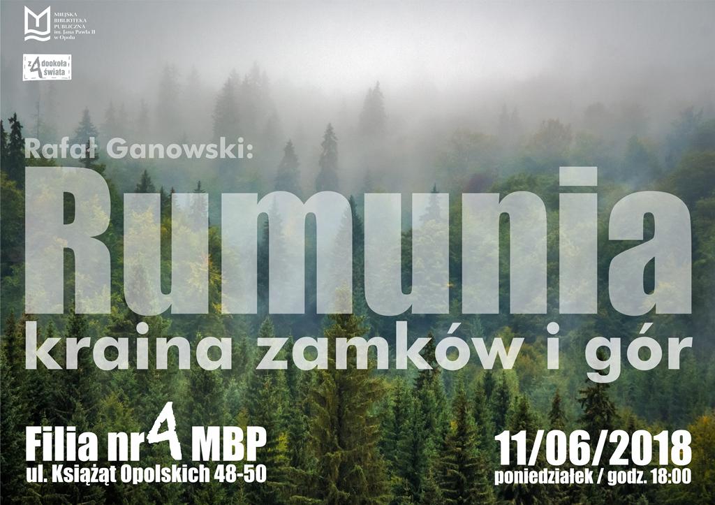 Rumunia – kraina zamków i gór. Spotkanie podróżnicze z Rafałem Ganowskim