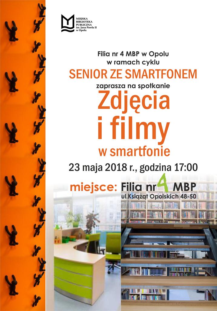 """""""Zdjęcia i filmy w smartfonie"""" – szkolenie w ramach cyklu """"Senior ze smartfonem"""""""