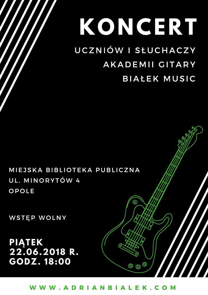Koncert uczniów i słuchaczy Akademii Gitary Białek Music