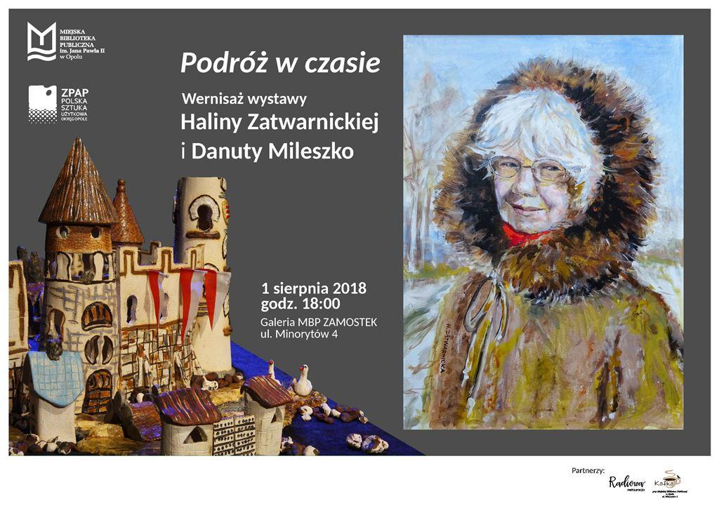 Podróż w czasie - wernisaż wystawy Haliny Zatwarnickiej i Danuty Mileszko