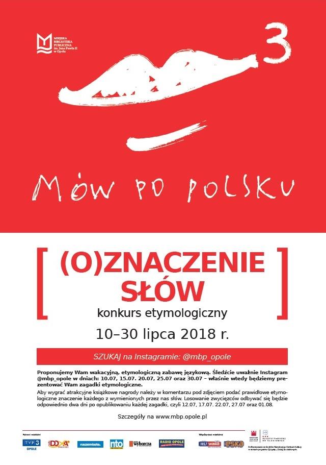 Mów po polsku 3! – (O)znaczenie słów – konkurs etymologiczny