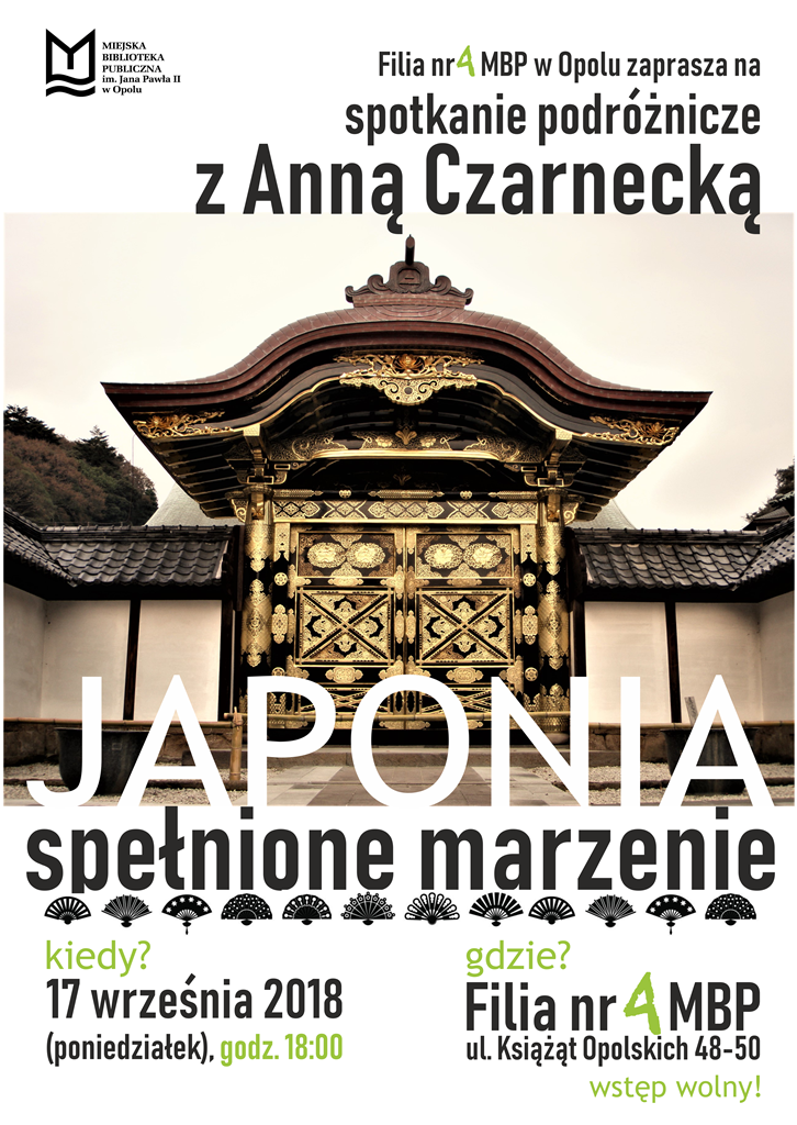 Japonia. Spełnione marzenie – spotkanie podróżnicze z Anną Czarnecką
