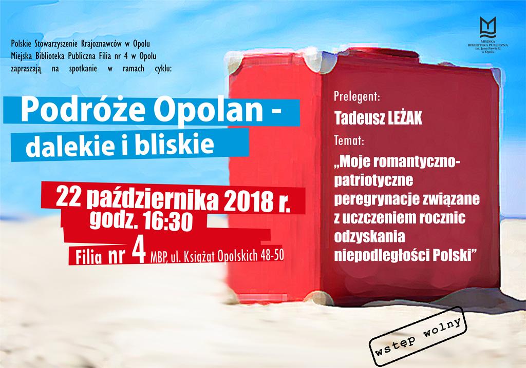 """""""Podróże Opolan dalekie i bliskie"""": wykład Tadeusza Leżaka"""