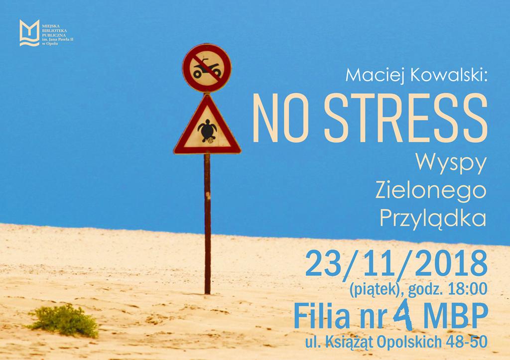 NO STRESS: Wyspy Zielonego Przylądka – spotkanie z Maciejem Kowalskim