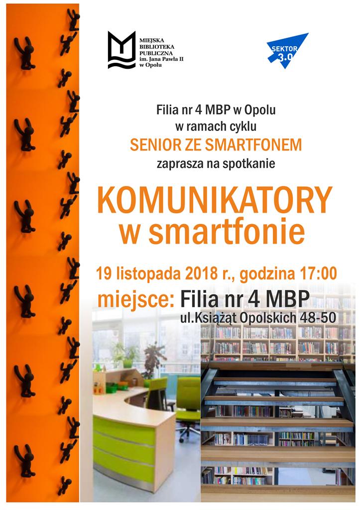 Senior ze smartfonem: komunikatory w smartfonie / szkolenie