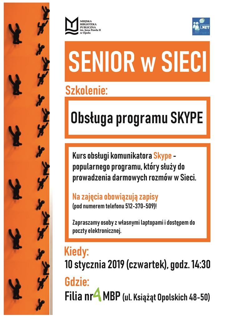 Senior w Sieci: Obsługa programu Skype