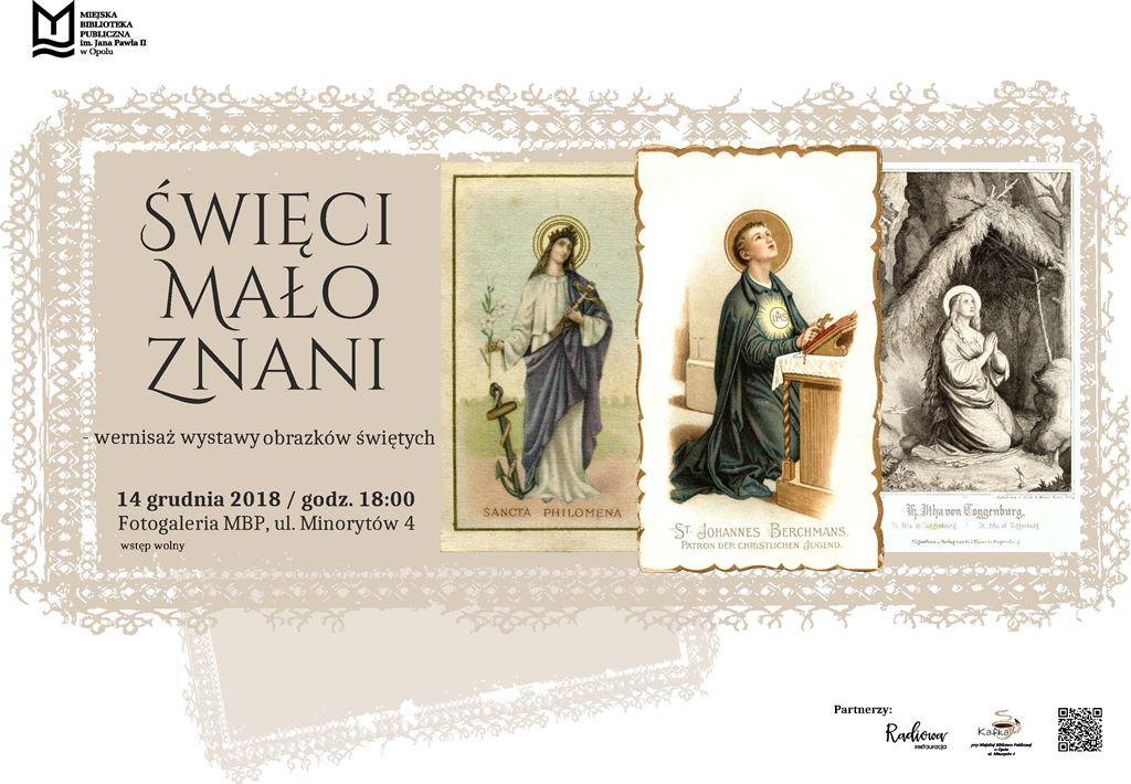 Święci mało znani – wernisaż wystawy obrazków świętych