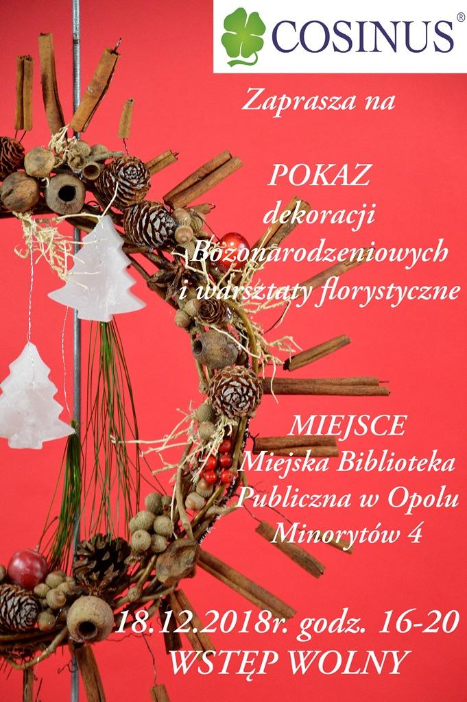 Pokaz dekoracji świątecznych i warsztaty florystyczne