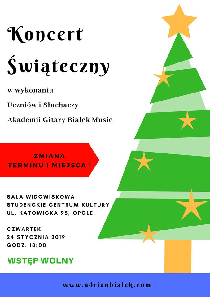UWAGA, ZMIANA MIEJSCA I TERMINU!  // Koncert Świąteczny Akademii Gitary Białek Music