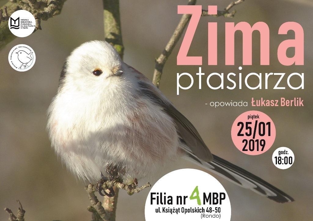 Zima ptasiarza – spotkanie z ornitologiem Łukaszem Berlikiem