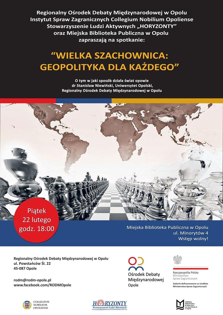Wielka szachownica: Geopolityka dla każdego. Spotkanie z drm Stanisławem Niewińskim