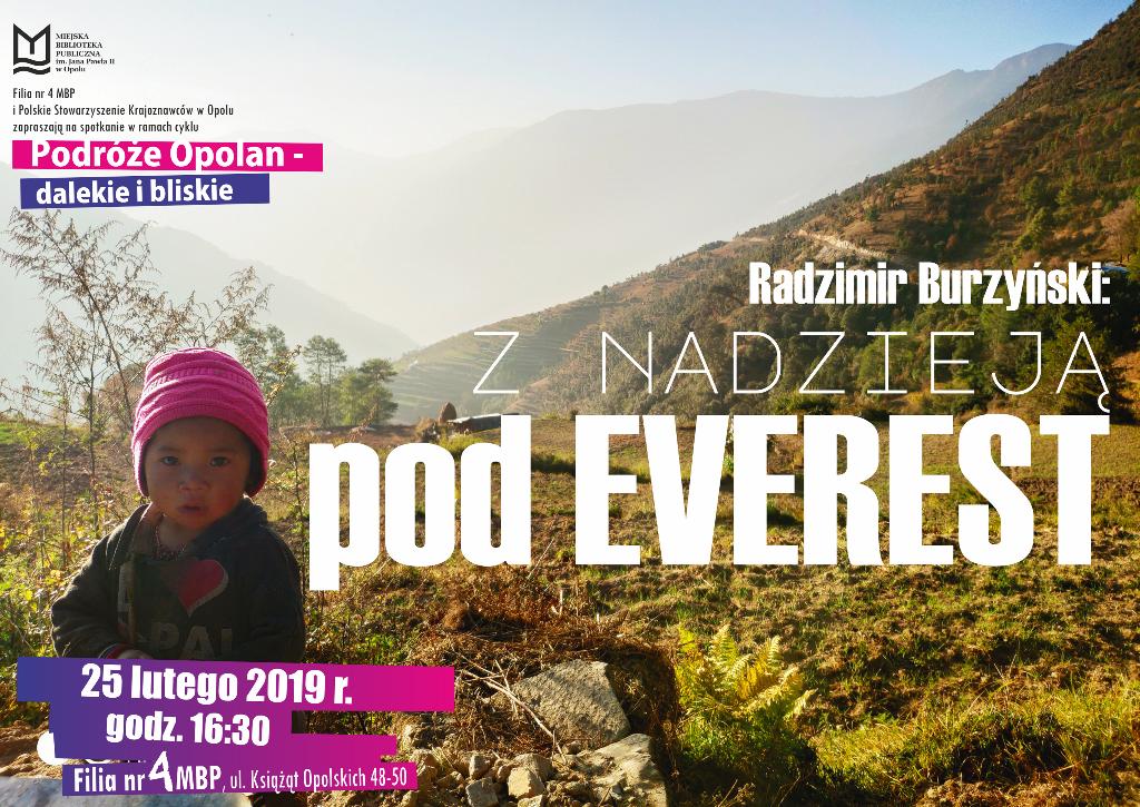 Z nadzieją pod Everest – spotkanie z Radzimirem Burzyńskim