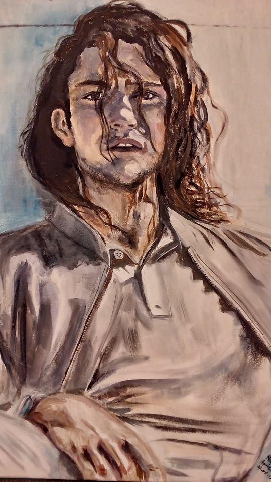 """Wystawa portretów do książek Agaty Suchockiej """"Woła mnie ciemność"""" oraz """"Twarzą w twarz"""""""
