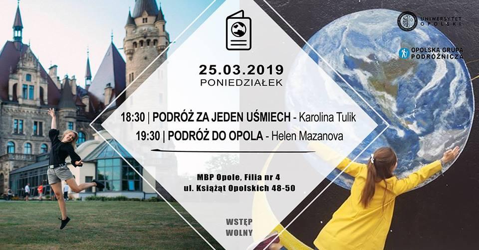 Pierwszy dzień V Opolskiego Festiwalu Podróżniczego