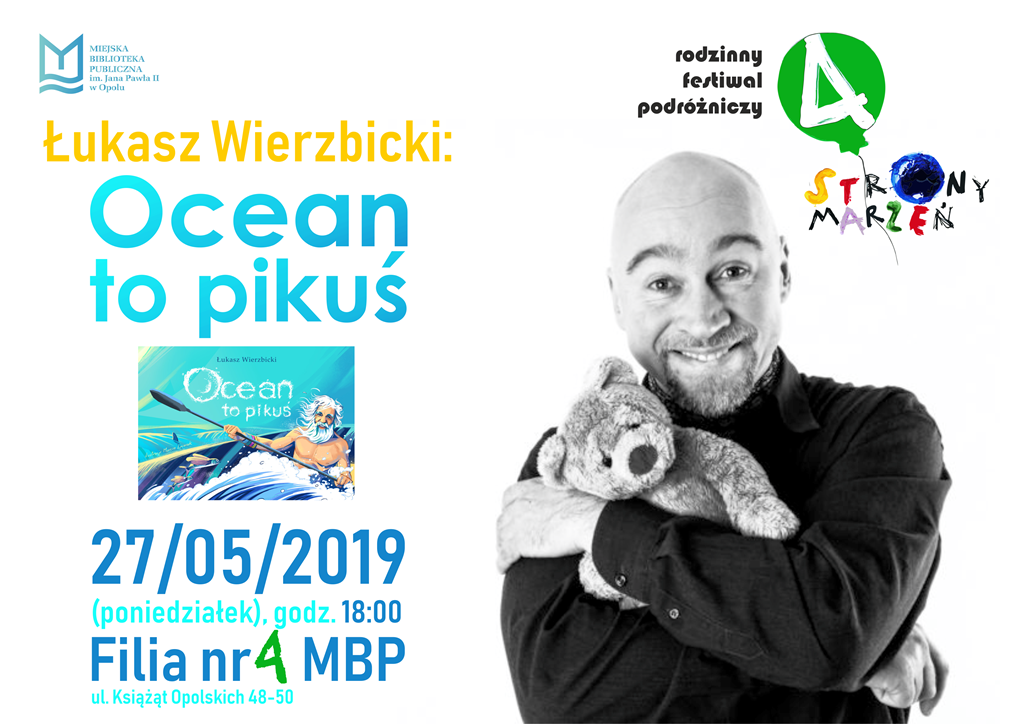 Ocean to pikuś – spotkanie z pisarzem Łukaszem Wierzbickim