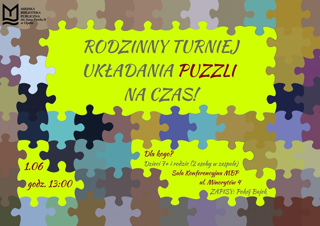 Rodzinny turniej układania puzzli na czas