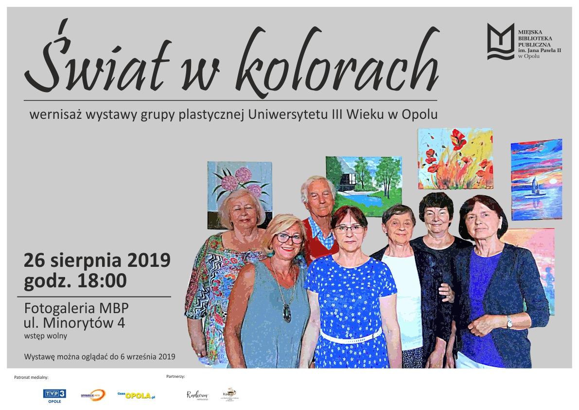 Świat w kolorach – wystawa grupy plastycznej Uniwersytetu III Wieku w Opolu