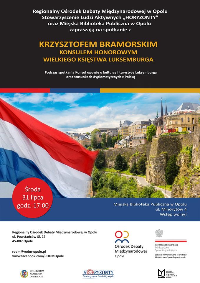 Spotkanie z Konsulem Honorowym Wielkiego Księstwa Luksemburga