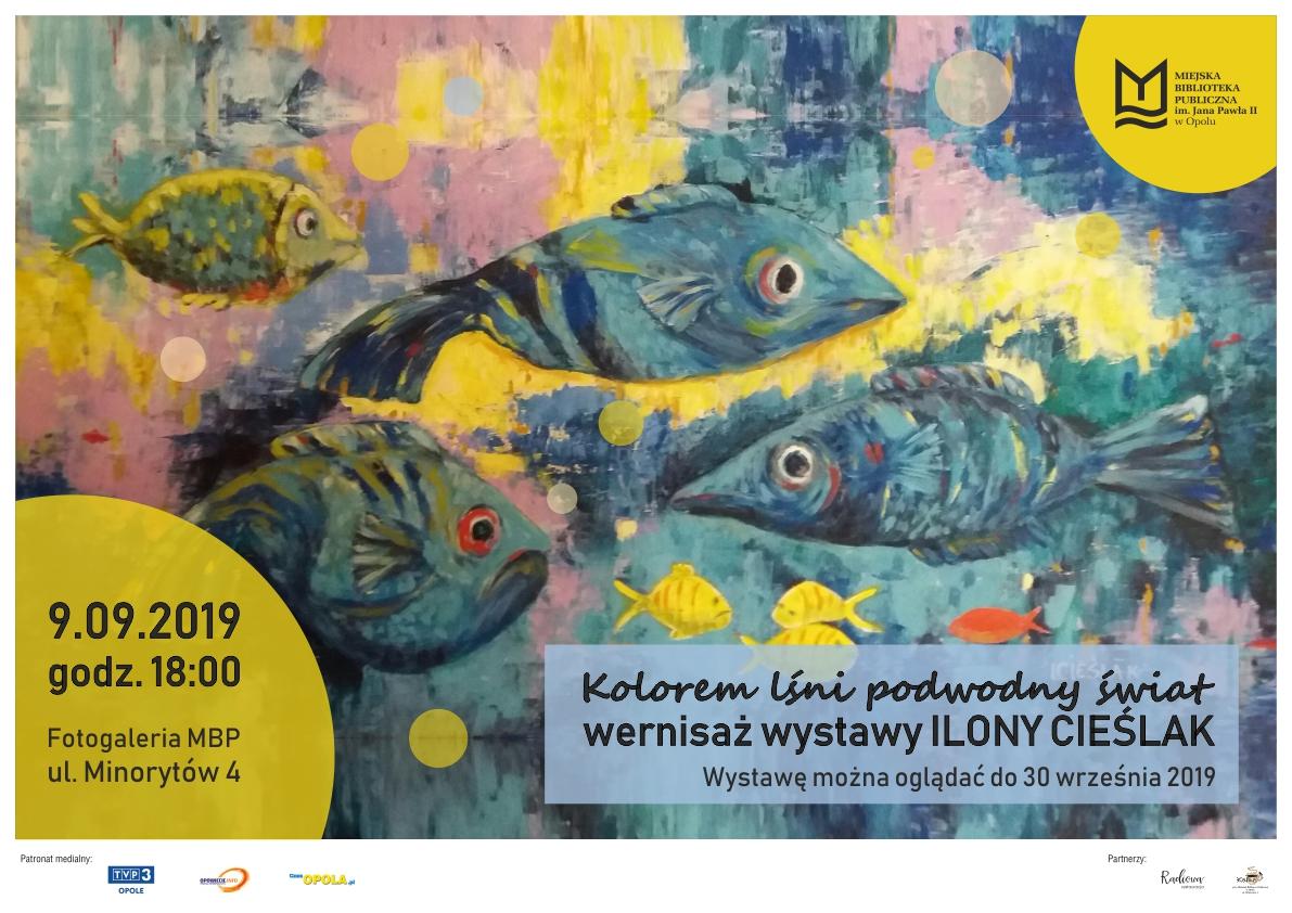 Kolorem lśni podwodny świat – wernisaż wystawy Ilony Cieślak