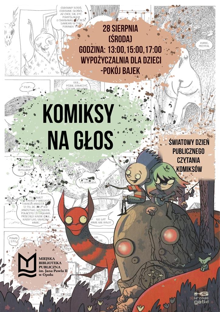 Komiksy na głos – Światowy Dzień Publicznego Czytania Komiksów