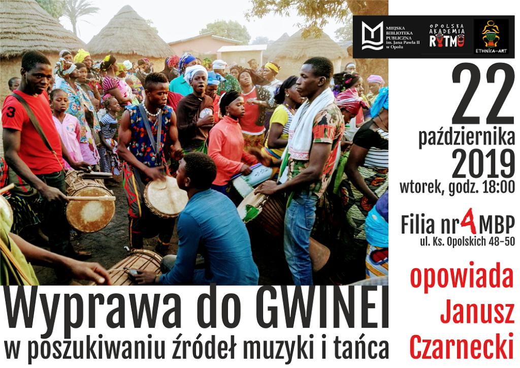 Wyprawa do Gwinei: w poszukiwaniu źródeł muzyki i tańca – spotkanie z Januszem Czarneckim