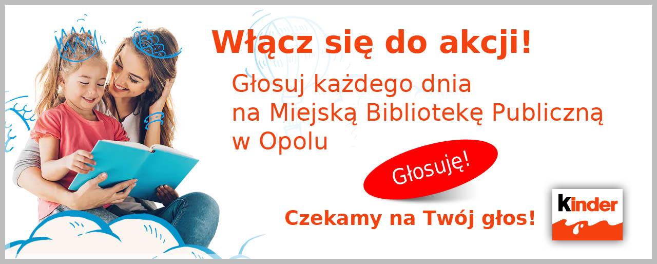 Kliknij i zagłosuj na MBP Opole w konkursie Wspólne Czytanie