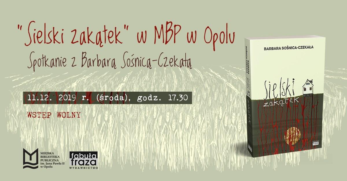 Read more about the article Sielski zakątek – spotkanie z Barbarą Sośnicą-Czekałą