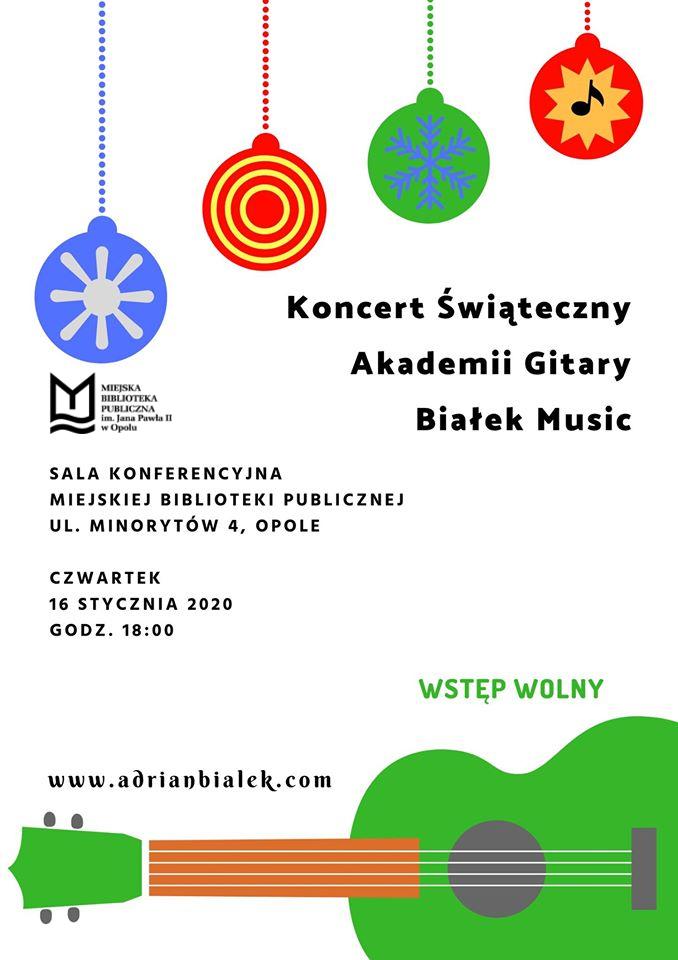 Koncert Świąteczny Akademii Gitary Białek Music