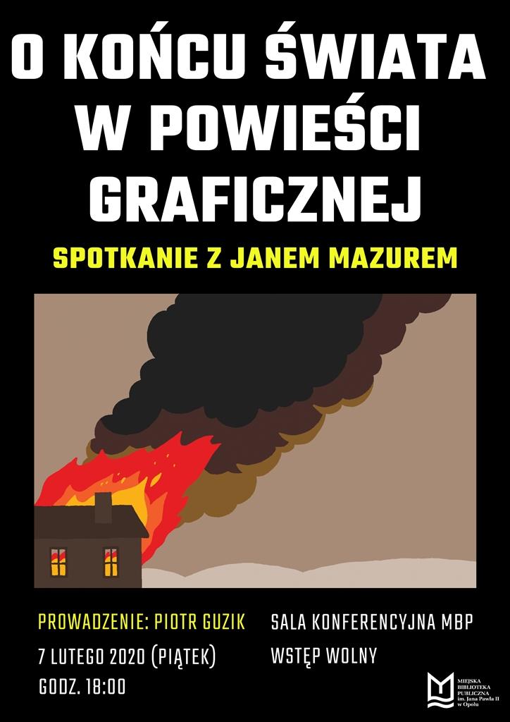 O końcu świata w powieści graficznej – spotkanie z Janem Mazurem