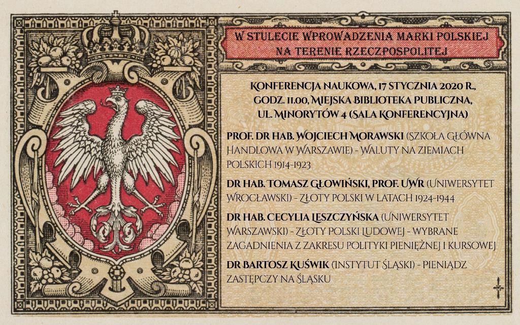 W stulecie wprowadzenia marki polskiej na terenie Rzeczpospolitej / konferencja
