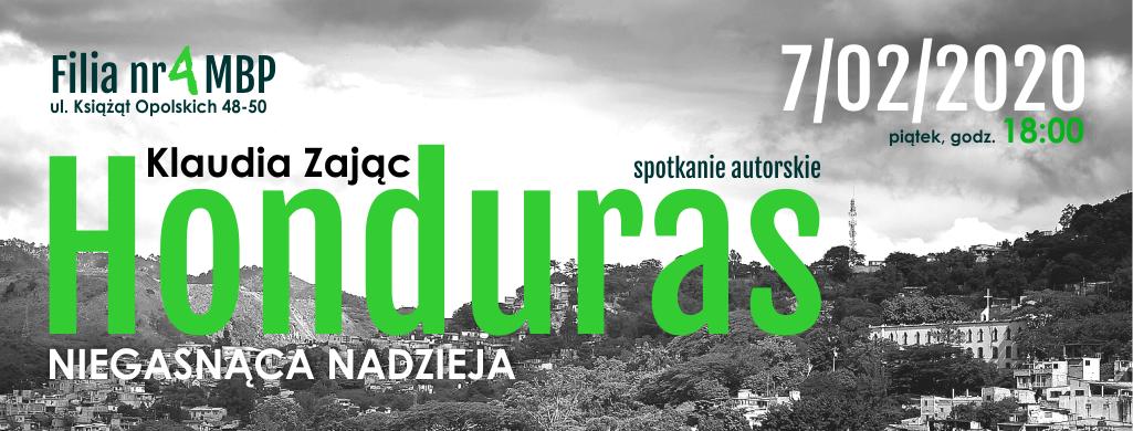 Honduras. Niegasnąca nadzieja – spotkanie autorskie z Klaudią Zając