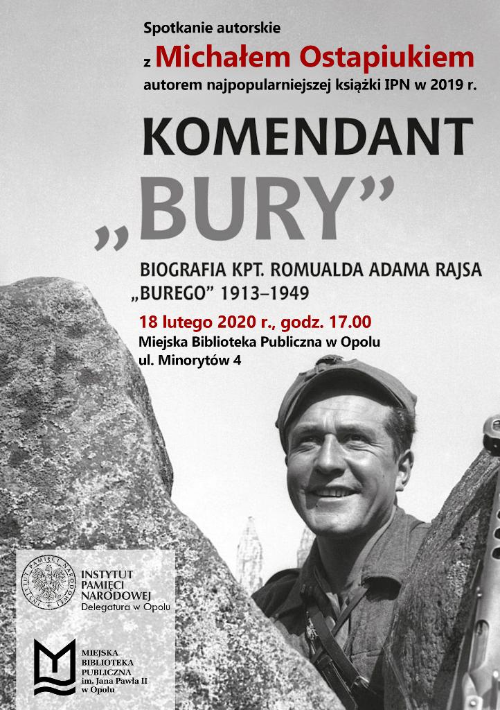 """Komendant """"Bury"""" – spotkanie z Michałem Ostapiukiem"""