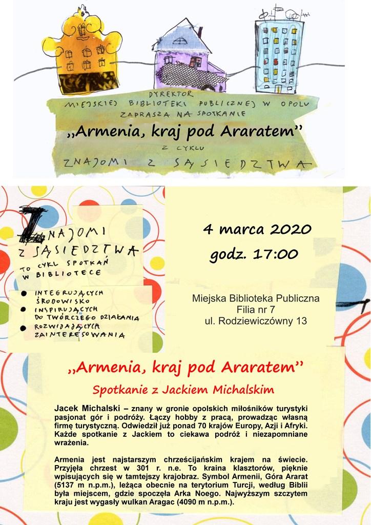 Znajomi z sąsiedztwa: Armenia, kraj pod Araratem - spotkanie z Jackiem Michalskim