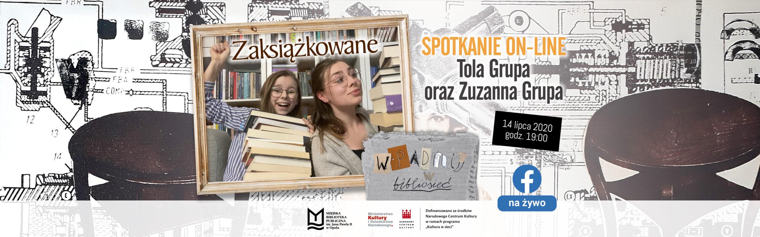 Zaksiążkowane – spotkanie on-line z youtuberkami: Tolą i Zuzanną Grupą