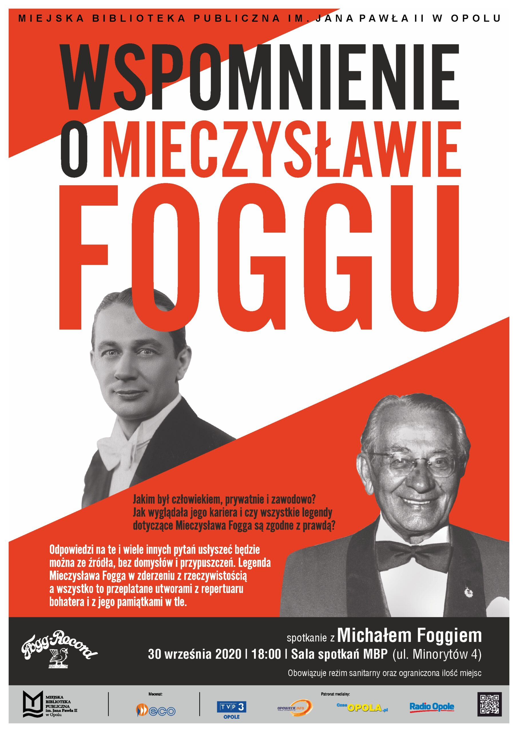 Wspomnienie o Mieczysławie Foggu – spotkanie z Michałem Foggiem