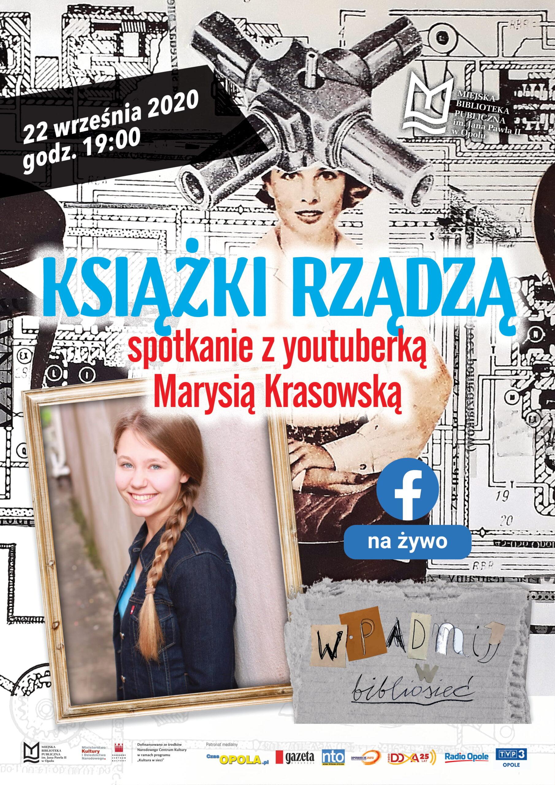 Książki rządzą – spotkanie on-line z youtuberką Marysią Krasowską