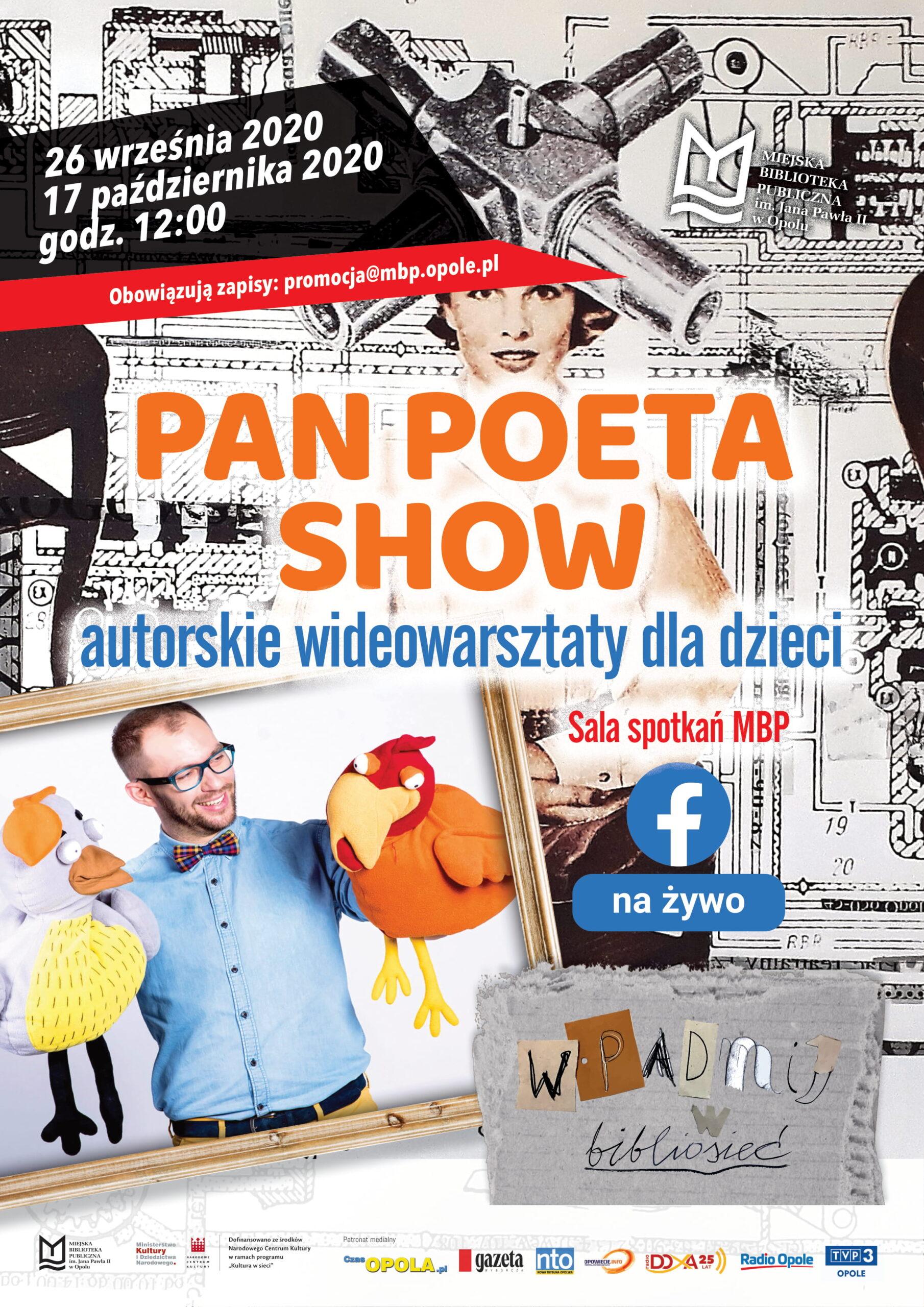 Pan Poeta Show – autorskie wideowarsztaty dla dzieci